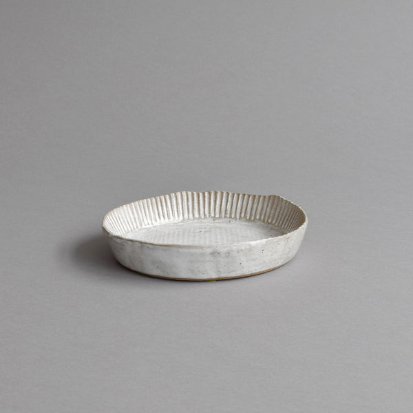 Fluted Quiche Mould, Snow White