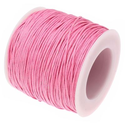 10 Yards (30 Feet) Pink 1Mm Waxed Cotton Jewelry Cord - Wax