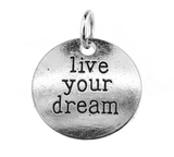 Silver Live Your Dream Charm at Baubles Of Fun