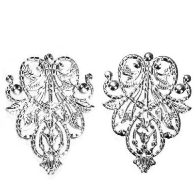 Silver Filigree Embellishments / Links Connectors