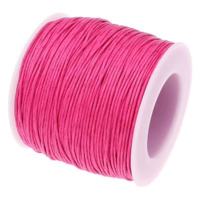 Waxed 1Mm Cotton Jewelry Cord -- Variety Of Colors - Deeppink - Wax