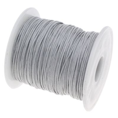 Waxed 1Mm Cotton Jewelry Cord -- Variety Of Colors - Gainsboro - Wax