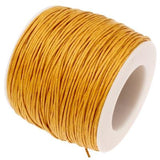 Waxed 1Mm Cotton Jewelry Cord -- Variety Of Colors - Goldenrod - Wax
