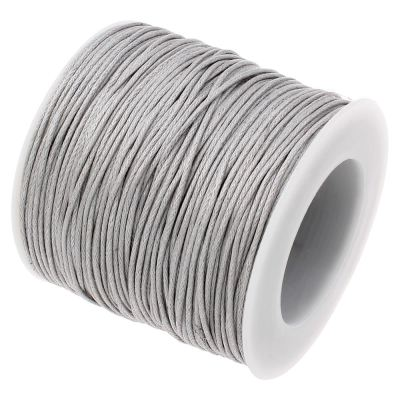 Waxed 1Mm Cotton Jewelry Cord -- Variety Of Colors - Lightgray - Wax
