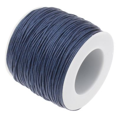 Waxed 1Mm Cotton Jewelry Cord -- Variety Of Colors - Navy - Wax