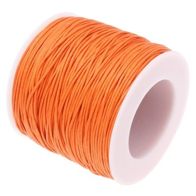 Waxed 1Mm Cotton Jewelry Cord -- Variety Of Colors - Orange - Wax