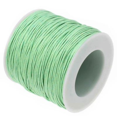 Waxed 1Mm Cotton Jewelry Cord -- Variety Of Colors - Palegreen - Wax