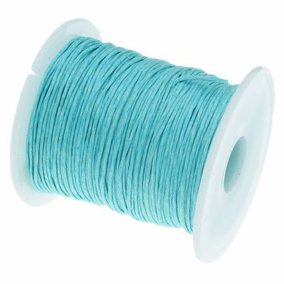 Waxed 1Mm Cotton Jewelry Cord -- Variety Of Colors - Paleturquoise - Wax