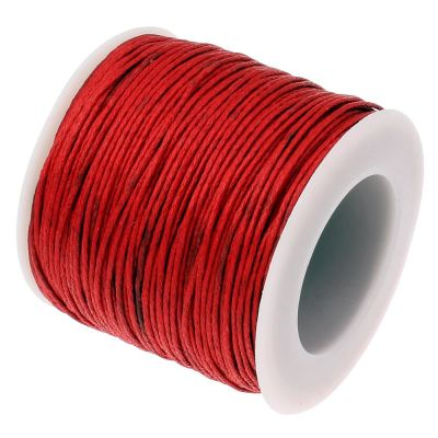 Waxed 1Mm Cotton Jewelry Cord -- Variety Of Colors - Red - Wax