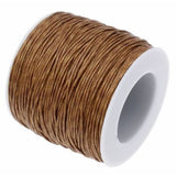 Waxed 1Mm Cotton Jewelry Cord -- Variety Of Colors - Saddlebrown - Wax