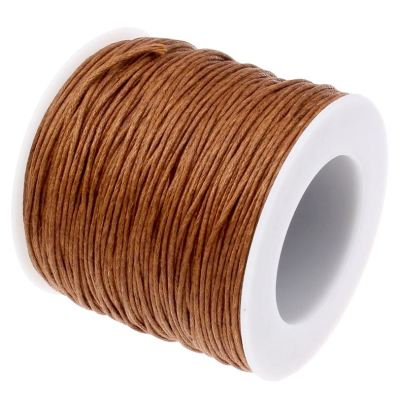 Waxed 1Mm Cotton Jewelry Cord -- Variety Of Colors - Sienna - Wax