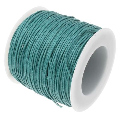 Waxed 1Mm Cotton Jewelry Cord -- Variety Of Colors - Teal - Wax