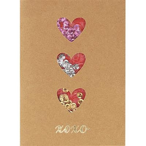 XOXO Hearts Greeting Card