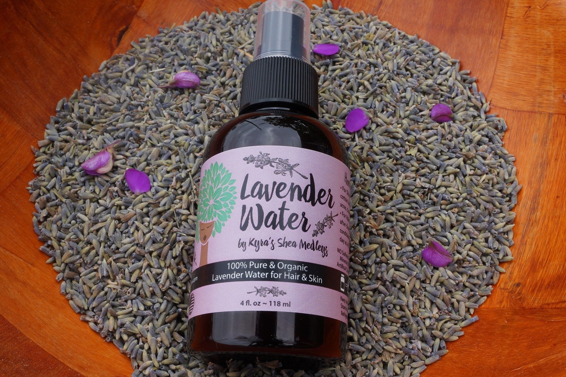 Lavender Water - Floral Water and Toner for Natural Hair and Skin