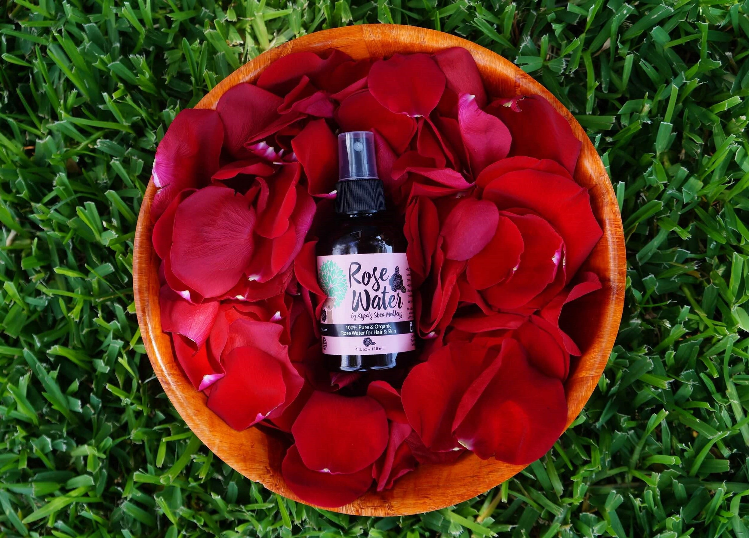 Rose Water - Floral Water and Toner for Natural Hair and Skin