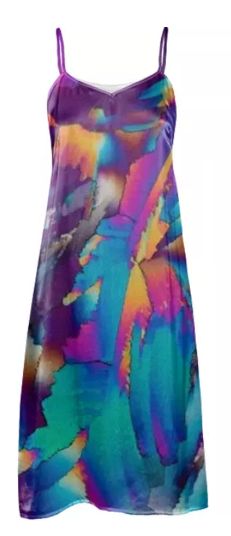 Flowing Crystals Slip Dress
