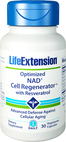 Life Extension-Optimized NAD+ Cell Regenerator™ with Resveratrol  30 vegetarian capsules - Alkaline for Life