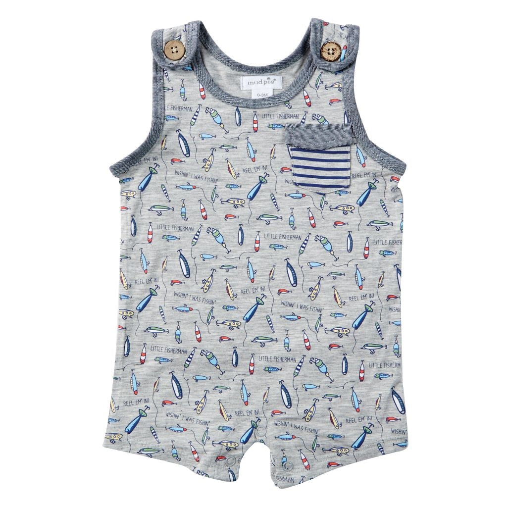 FISHING LURE ROMPER 3-6 MONTHS