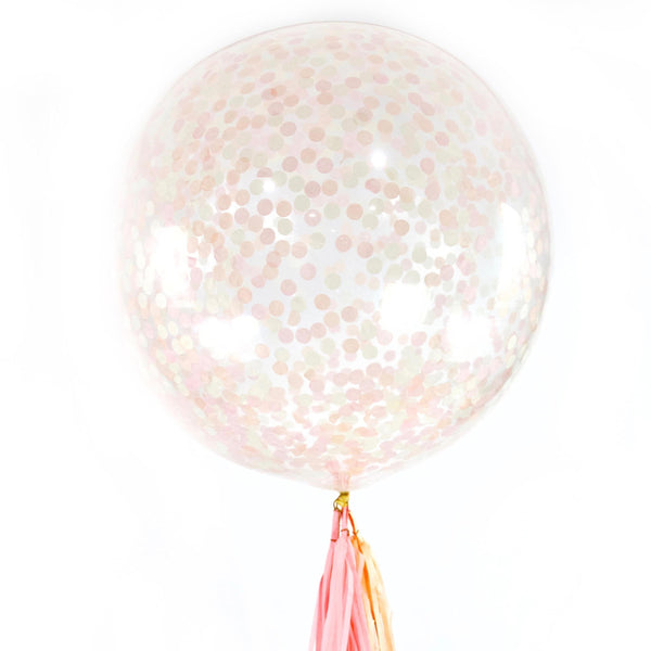 "36"" Blushing Peony Confetti Balloon, Decorative Balloons, Jamboree Party Box, Jamboree"