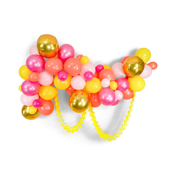 "SHIPS FREE** Balloon Garland Kit - Pink Tangerine Gold Peach Yellow Giant Balloon Arch -""Mai Tai"" XL Girl Party Prop, Tropical, Bridal, Girl"