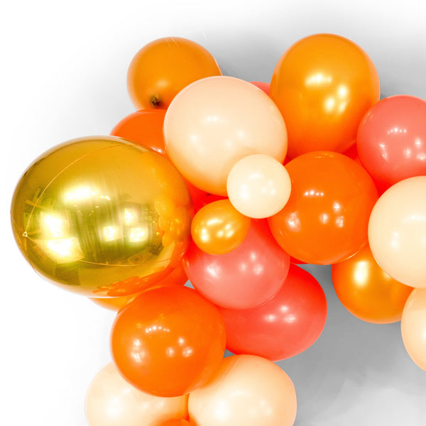 "SHIPS FREE** Giant Balloon Garland Kit - Tangerine Peach Coral Gold Giant Balloon Arch -""Tangerine Dream"" XL Party Prop, Photo Backdrop"