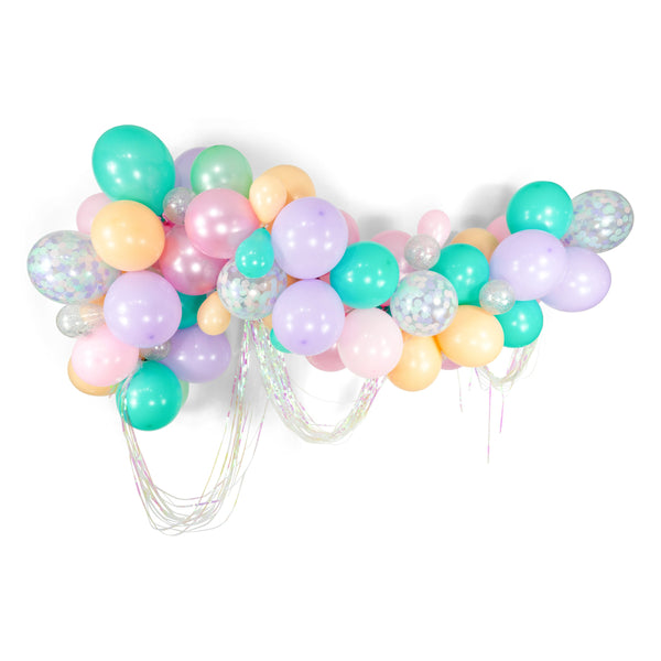 "SHIPS FREE** Giant Balloon Garland Kit - Pink Mint Blue Lavender Peach Giant Balloon Arch - ""Mythical Tales"" XL Girl Party Prop, Unicorn"