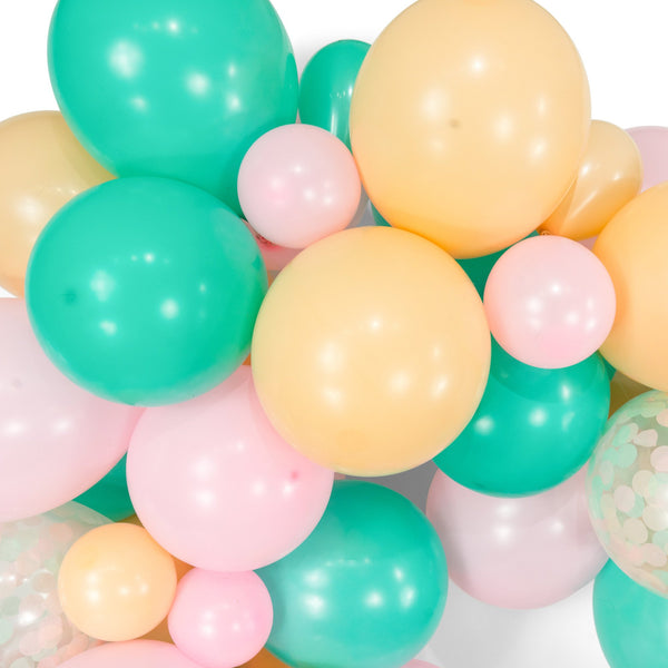 "SHIPS FREE** Giant Balloon Garland Kit - Pink Mint Peach Giant Balloon Arch - ""Jamboree Celebration"" XL Girl Party Prop, Unicorn Theme, Diy"