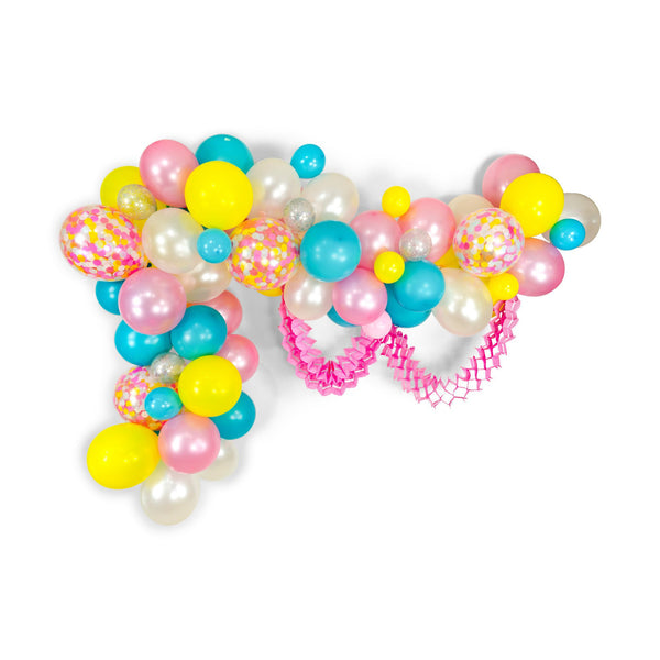 "SHIPS FREE** Balloon Garland Kit - Pink Blue Yellow White Giant Balloon Arch -""Disney Princess Squad"" XL Party Prop, Its a Girl, Baby Shower"