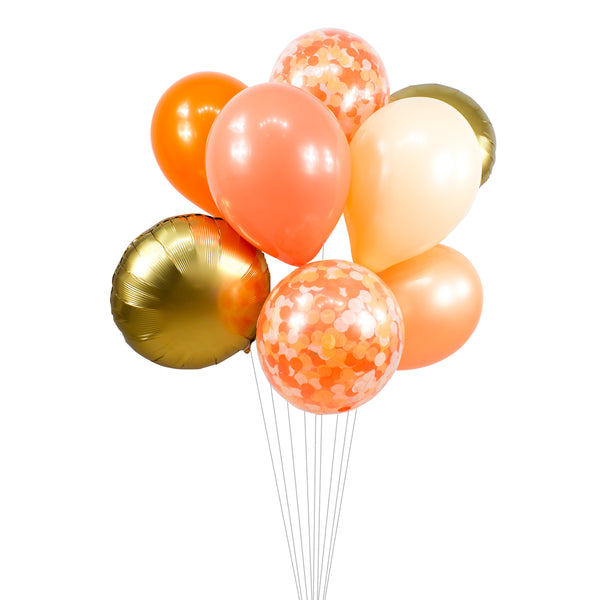 "Balloon Cluster - Tangerine Gold Peach Coral Giant Balloons-""Tangerine Dream"" XL Party Prop, Baby Shower, Tropical, Bachelorette, Smash Cake, , Jamboree Party Box, Jamboree"