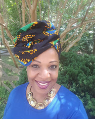 "African Head wrap ""Psychedelic"" Chic"