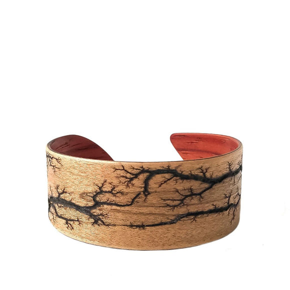 Electrocuted Steam-Bent Wood Bracelet - Andalog