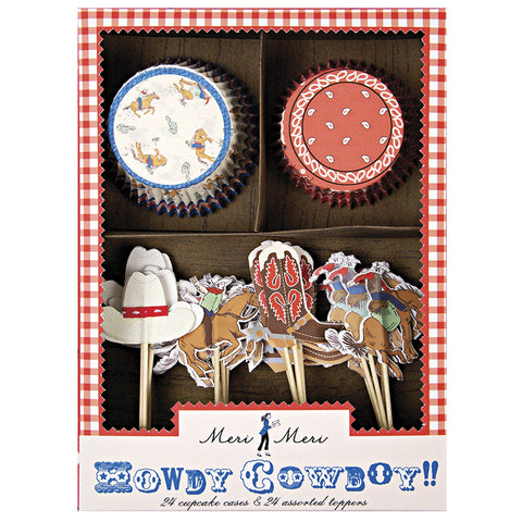 Howdy cowboy cupcake kit - Miss Coppelia