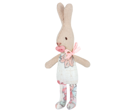 Conejita baby estampado rosa (My Rabbit - 11cm) - Miss Coppelia