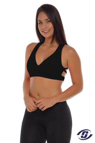 Black sports bra for sale