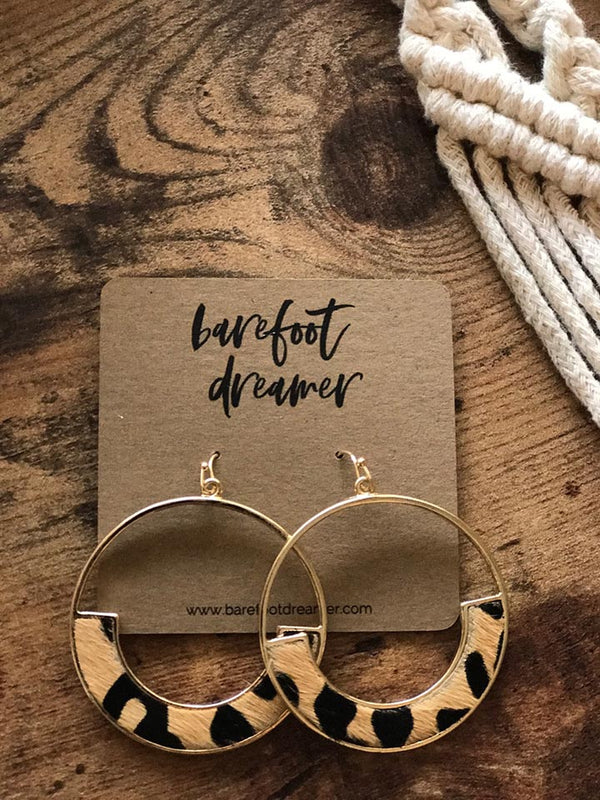 Into the Wild Leopard Circle Earrings - Barefoot Dreamer