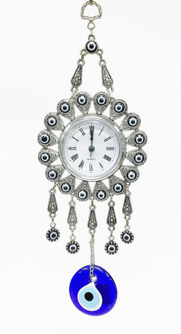 Evil eye clock wall decor