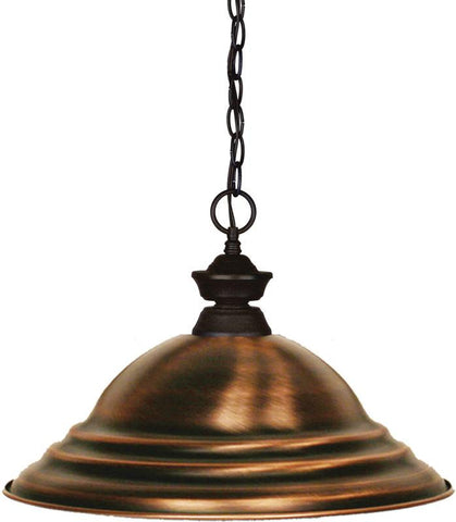 Z-Lite 100701BRZ-SAC 1 Light Pendant Shark Collection Stepped Antique Copper Finish - ZLiteStore