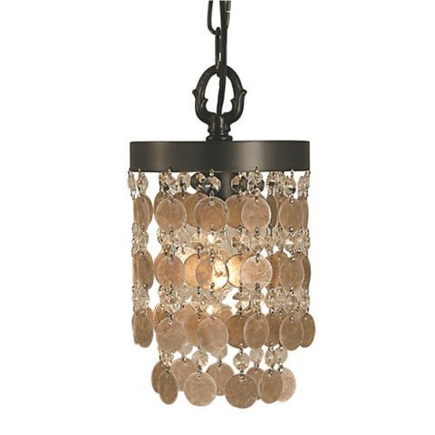 Framburg 2480-AB 1-Light Antique Brass Naomi Pendant