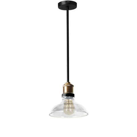 Dainolite 410-81P-BAB 1LT Pendant, Black/Antique Brass