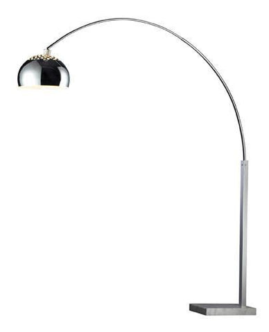 Dimond D1428 Penbrook Arc Floor Lamp In Silver Plating With White Marble Base And Silver Plated Shade - PeazzLighting