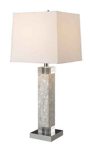 Dimond D1412 Luzerne Table Lamp In Mother Of Pearl With Milano Off-White Shade - PeazzLighting
