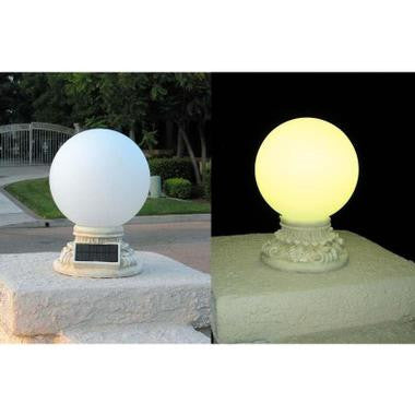 "HomeBrite 30855 10"" Frosted Globe Deck Lights - PeazzLighting"