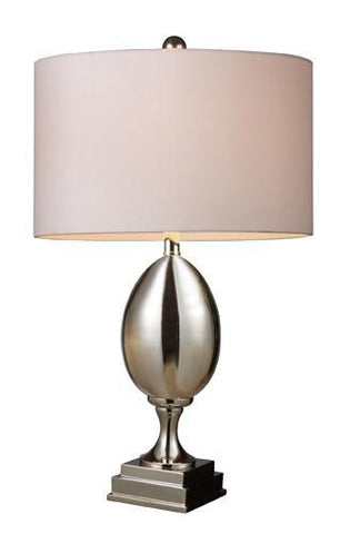 Dimond D1426W Waverly Table Lamp In Chrome Plated Glass With Milano Pure White Shade - PeazzLighting