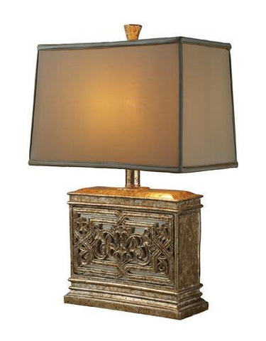 Dimond D1443 Laurel Run Table Lamp In Courtney Gold With Ria Bronze Shade And Cream Liner - PeazzLighting