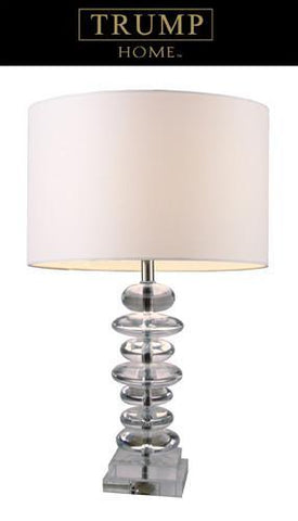 Dimond D1512 Madison Table Lamp In Clear Crystal With White Shade - PeazzLighting