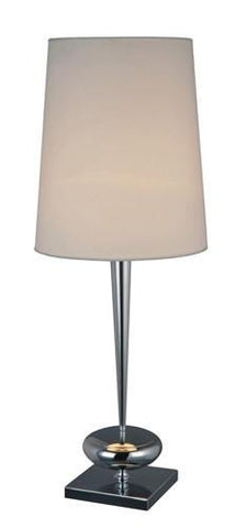 Dimond D1516 Sayre Table Lamp In Chrome With White Shade - PeazzLighting