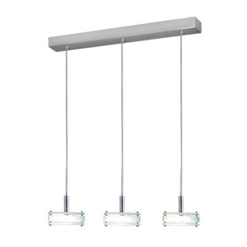Jesco Lighting PD302-3GL The attractive DISCUS element offers a choice of glass, chrome, or birch wood accent - PeazzLighting