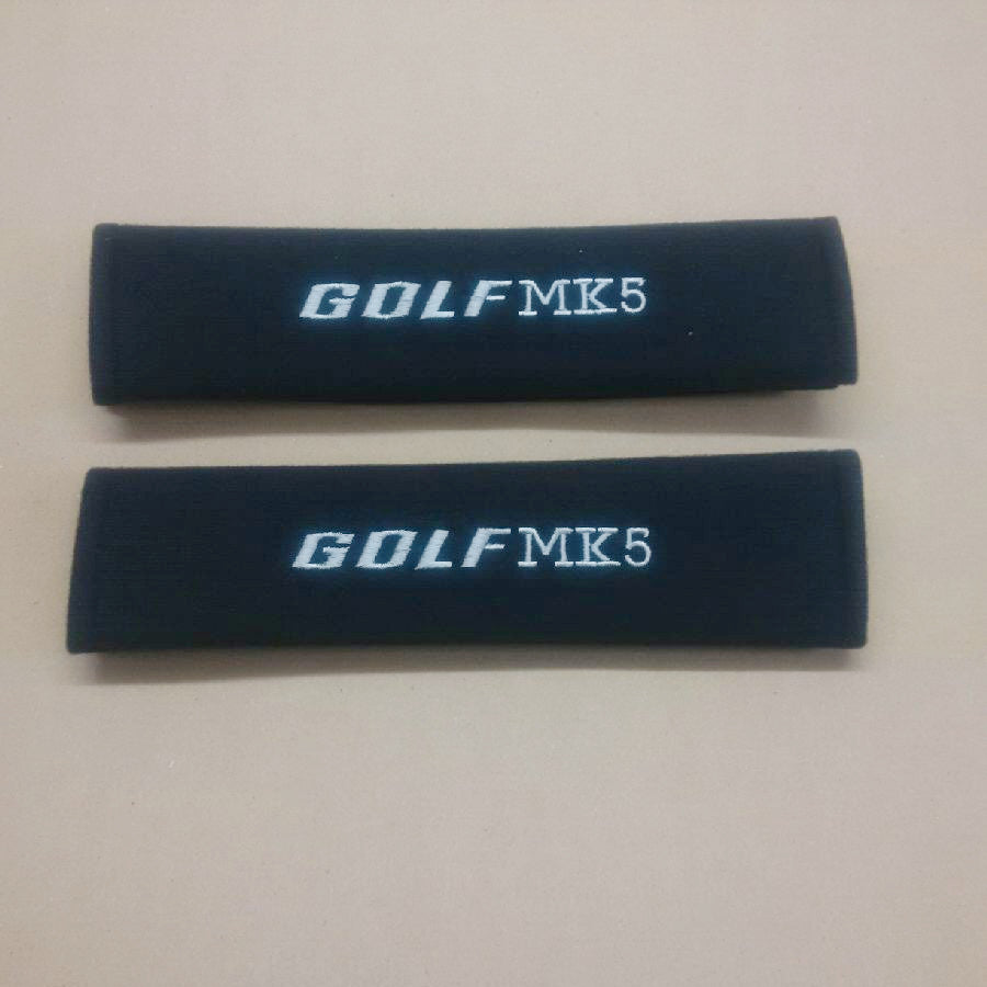 Golf MK5 embroidered padded seat belt covers.