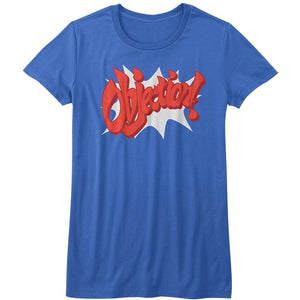 Ace Attorney Phoenix Wright Objection! Gaming Juniors Royal Tee Shirt