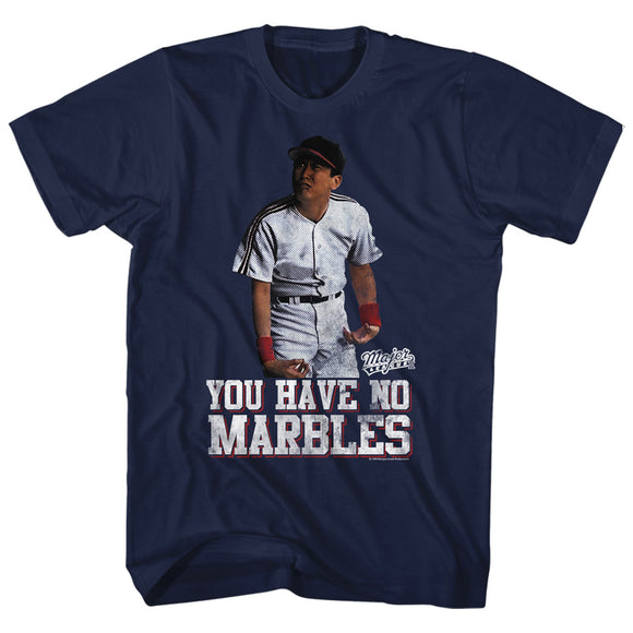 Major League T-Shirt You Have No Marbles Navy Tee